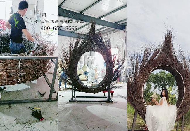 w88工艺网红鸟巢椅正在制作中