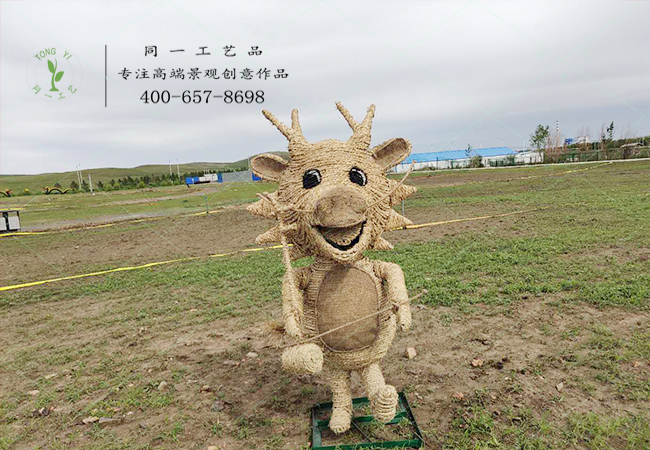 稻草工艺品十二生肖鸡造型