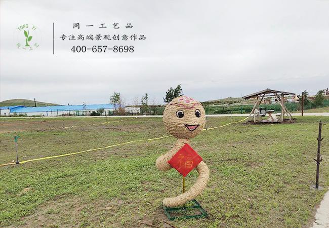 稻草工艺品十二生肖蛇造型