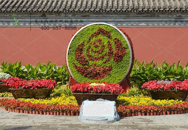 植物绿雕堂鼓造型