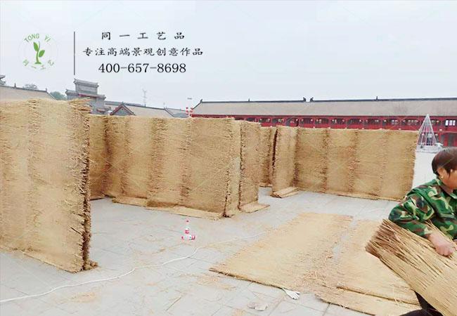 徐州稻草工艺品迷宫现场制作